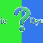 تفاوت بین سایت استاتیک و داینامیک