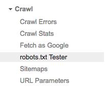 Webmasters-account-robots-txt