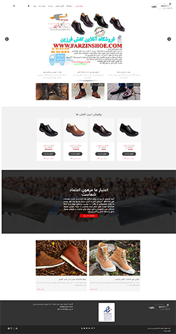 طراحی سایت کفش