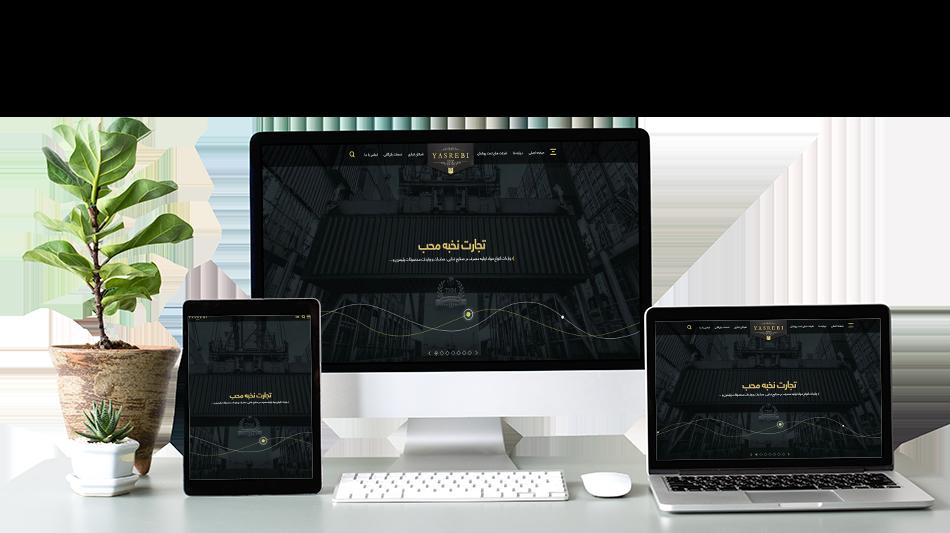 طراحی سایت شرکتی حرفه ای و بین المللی